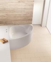 Hoesch Badewanne Spectra Eck 1400 mit angeformter