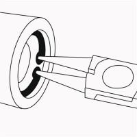NORDWEST Handel AG Sicherungsringzange J0 DIN5256 Form C f.D.8-13mm PROMAT f.Innenringe gerade pol.,