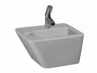 Laufen Handwaschbecken mit integrierter Halbsäule Alessi Dot, 450x330 mm 1 Hahnloch mittig, mit Über