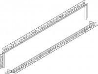 Mepa TersoWALL Fliesenschiene, edelstahl, Länge 800 mm, 592009