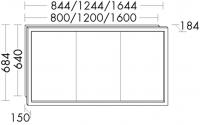 Burgbad Spiegelschrank Crono Matt 640x1200x150 Crono Matt, SPFT120PN241