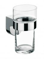 Emco mundo Glashalter, Kristallglas klar, chrom, 332000100