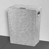 Koh-I-Noor Wäschekorb mit innensack PERLE 47x60x30, chrom, 2563SK