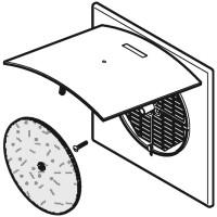 Geberit Aerotec90 Abdeckplatte zu Unterputz-Lüfter