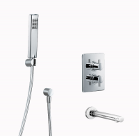 HSK Shower Set 1.11 Eckig, chrom