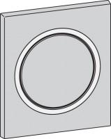 Mepa Frontplatte Urinal-Druck-, spüler MEPAzero, chrom-matt, 590259