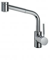 KAJA-Ipuri Niederdruck-Spültischarmatur m.Zylinderstifth. m. Handbr., Ausl. 255 mm chrom