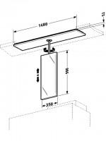 Duravit Spiegelelement 2nd floor 300x1480mm