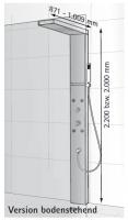 HSK Duschpaneel Lavida - mit Regentraverse für Glasaufnahme