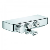 GROHE Thermostat-Wannenbatterie Grohtherm SmartControl 34718 Wandmontage chrom, 34718000