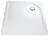 HSK Acryl Quadrat-Duschwanne super-flach 100 x 100 x 3,5 cm, ohne Schürze
