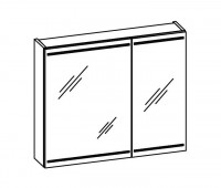 Artiqua DIMENSION 112 LED-Spiegelschrank B:830mm 2 asymetrische Türen