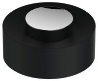 Keuco Kunststoff-Deckel Universalart.04989, Edelstahl-finish/schwarzgrau, 04989070137