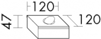 Burgbad Metallbox 47x120x120 , ACBJ012