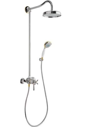 Showerpipe Axor Carlton chrom/gold 17670090