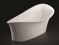 Marmorin Alice freistehende Badewanne, L: 1800 mm, B: 750 mm, H: 740 mm, weiss glänzend