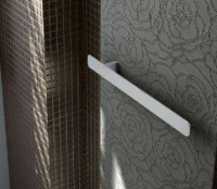 Fiora Handtuchhalter für vertikale Heizkörper, chrom, B: 450, T: 45, H: 35 mm