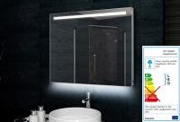 Neuesbad Badezimmerspiegel Alu-Rahmen LED Beleuchtung, B:1000, H:600 mm