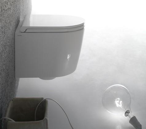 Globo FORTY3 SENZABRIDA® Wand-Tiefspül-WC, spülrandlos FOS06BI, B: 36, T:43cm, Farbe: weiss glänzend
