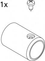 Kermi EBRA021 Set Stabi Wand 90 Grad SIL, silber mattglanz, 2534917