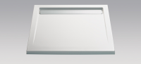 HSK Acryl Quadrat-Duschwanne super-flach 90 x 90 x 3,5 cm, mit integrierter Ablaufrinne