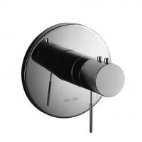 KWC Fertigmontageset Dusche Ono ganzchrom, Thermostat