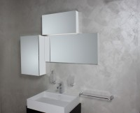 Koh-I-Noor Spiegel mit Licht in zwei Stärken und Schrankteil. CHIMERA 3D 130x40x90, 92101