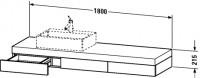 Duravit Konsole mit Schubkasten Fogo T:550, B:1800, H:215mm, FO85320