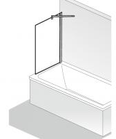 HSK Seitenwand passend zu Favorit Nova Badewannenaufsatz