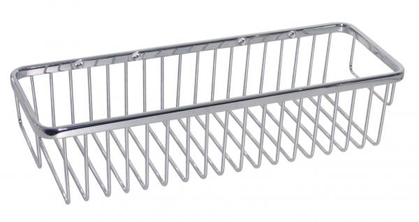 KOH-I-NOOR Griglie 45807 Ablage 35x12x8 cm, chrom einfache Montage ohne Bohren