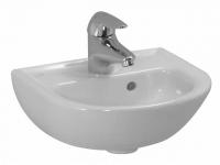 Laufen Handwaschbecken Laufen Pro B, 350x310mm 1 Hahnloch mittig, mit Überlauf, weiss