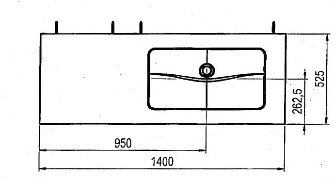 Trägerplatte, Glas weiss poliert, Breite: 140 cm, Tiefe: 525 mm