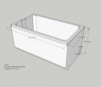 Neuesbad Wannenträger für Bette LaBette 120x70