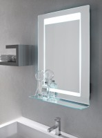 Vanita & Casa Virgo LED-Spiegel, B: 520, H: 760 mm, mit Dimmer, Bluetooth und Heizung
