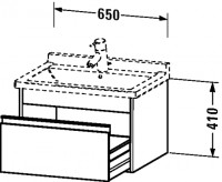 Duravit Waschtischunterschrank wandhängend Ketho T:465, B:650, H:410mm, KT6663