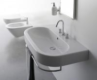 Globo Concept Waschtisch, B: 900, T: 500, H: 200 mm, mit 1 Hahnloch, weiss