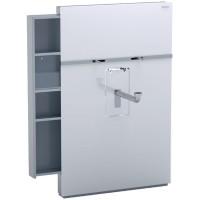 Geberit Monolith Sanitärmodul für wandhängend Waschtisch und Stand-Arm. Auszug li/re Glas weiß