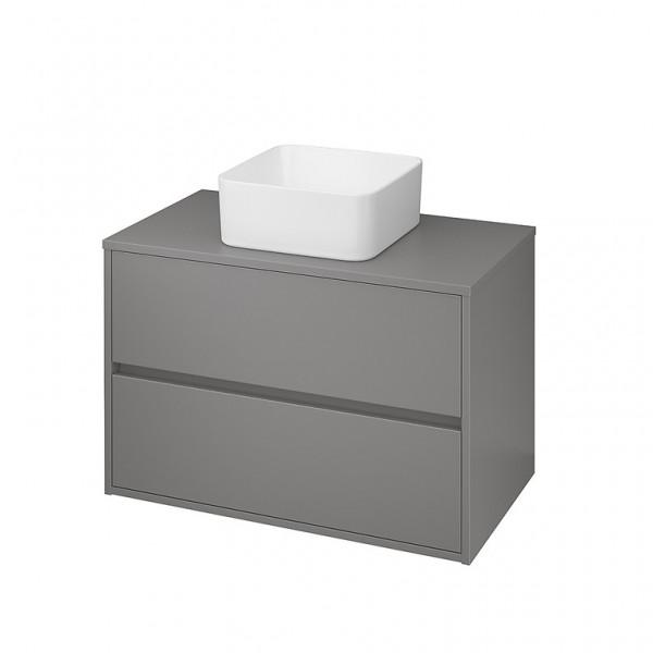 Neuesbad Serie 300 Waschtischunterschrank, B:798, T:450, H:530mm, Grau matt