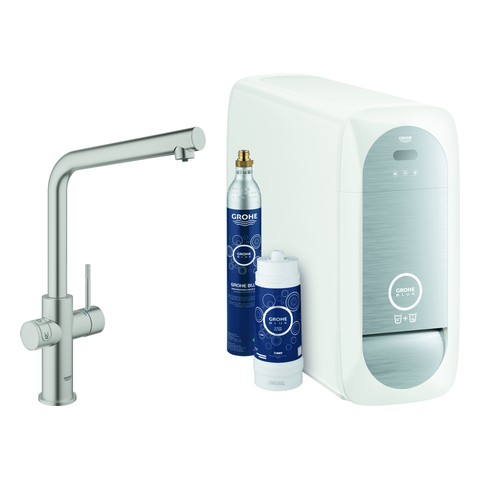 Grohe Blue Home Starter Kit 31454 Bluetooth/WIFI L-Ausl. supersteel, 31454DC1