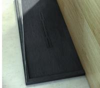 Fiora Silex Privilege Duschwanne, Breite 90 cm, Länge 100 cm, Farbe: schwarz