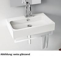 ArtCeram Block Waschtisch / Aufsatzwaschtisch, B: 650, T: 410 mm, black lettering Dekor