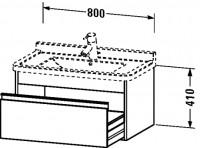 Duravit Waschtischunterschrank wandhängend Ketho T:465, B:800, H:410mm, KT6664 , Front/Korpus: terra