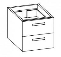 """Artiqua COLLECTION 413 Waschtischunterschrank zu""""iCon""""124050 B:450mm 2 Auszüge"""