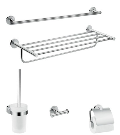 Image of Hansgrohe Bad Accessoire 5-teiliges Set Logis Universal chrom, 41728000 41728000