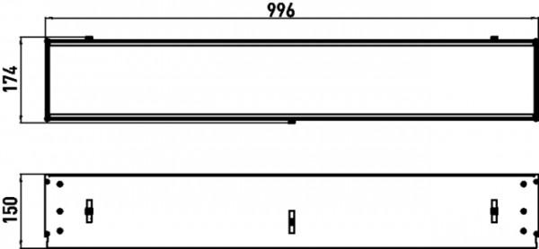Emco asis Einbaurahmen für, Unterputz-Ablagemodule, 1000mm, 971200011