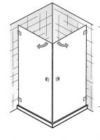HSK Atelier Pur AP.27 Eckeinstieg 2-teilig, 2 Drehtüren