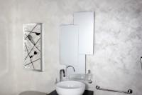 Koh-I-Noor Spiegel mit Kantenschliff. Installation waagerecht oder senkrecht. CHIMERA 52x52x99, 9210