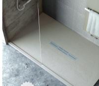 Fiora Silex Privilege Duschwanne, Breite 80 cm, Länge 140 cm, Farbe: grau
