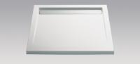 HSK Acryl Quadrat-Duschwanne super-flach 100 x 100 x 3,5 cm, mit integrierter Ablaufrinne