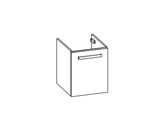 Artiqua 411 Waschtischunterschrank für Vero Air 072445, Weiß Glanz, 411-WUT-D75-R-7050-68